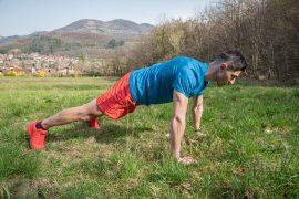 Séance de coaching extérieur, exercice pompes, Coach sportif Brunet Yoann