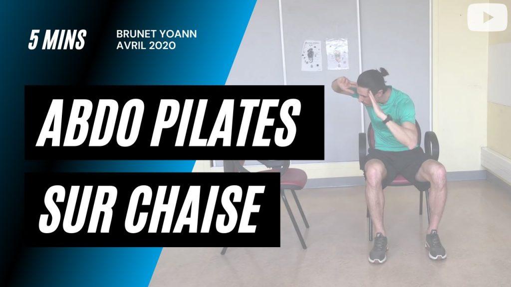 Abdo Pilates sur chaise en 5'