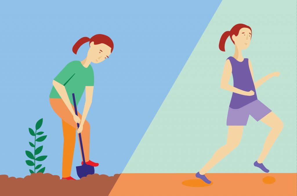 La différence entre exercice et activité physique