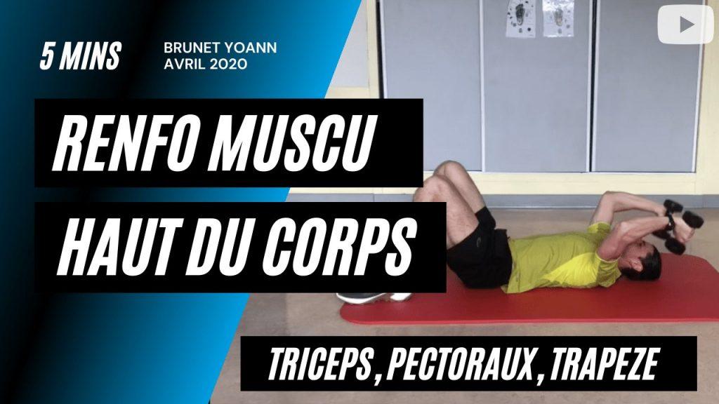 Renforcement musculaire haut du corps en 5' Triceps - Pectoraux - Trapèze
