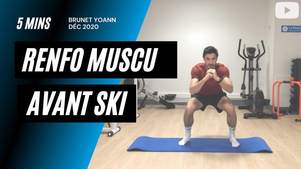 Renforcement musculaire avant la saison du ski