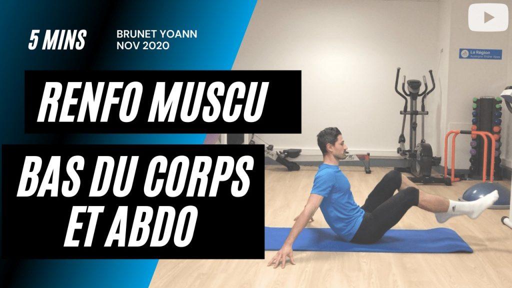 Renforcement musculaire bas du corps et Abdo en 5'
