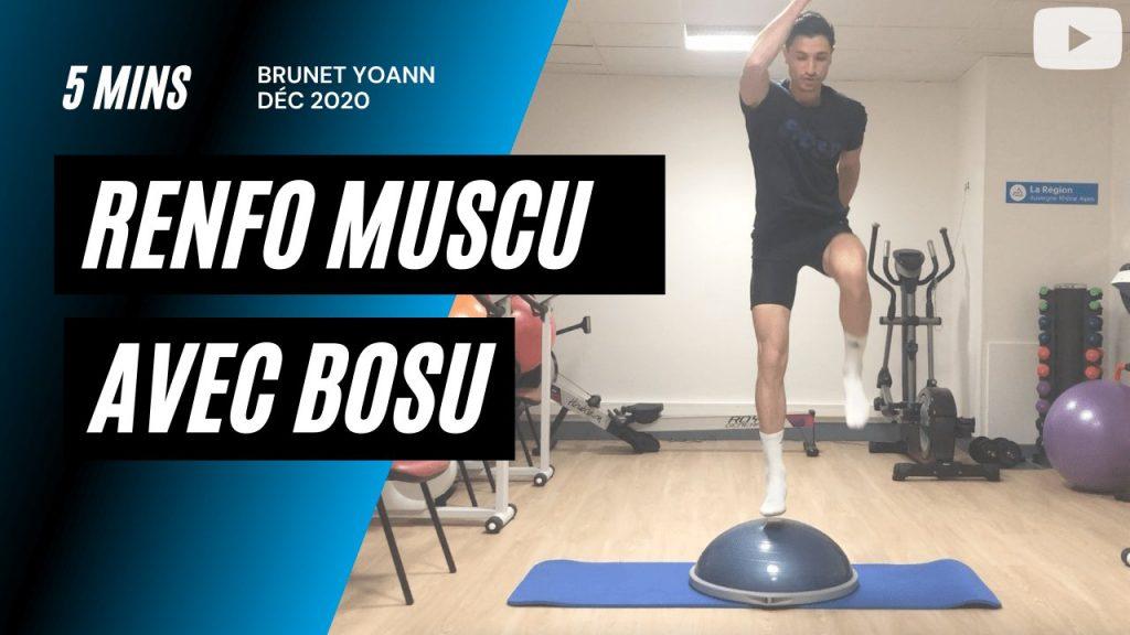 Renforcement musculaire avec Bosu en 5'